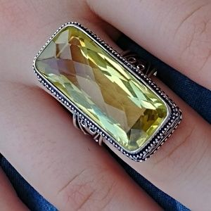 Jewelry - Faceted Lemon Citrine Ring